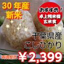 【30年産】千葉県産コシヒカリ 玄米5kg送料無料♪精米無料...
