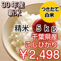 【30年産新米入荷!】千葉県産コシヒカリつきたて白米5kg生産者から直接仕入れ♪送料無料♪※送料無料地域に除外があります※北海道・九州:+400円