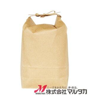 米袋KHP-831クラフトSP保湿タイプ無地窓なし2kg用紐付20枚セット