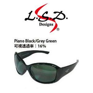 L.S.D. Designs【偏光グラス】D.Flyman(ディー・フライマン) ピアノブラック/グレーグリーン