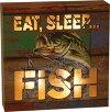 リバースエッジLEDライトウォールサインEatSleepFish#2352