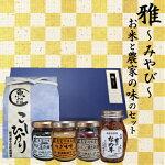 1kgギフトセット【雅】農家の秘伝の味4瓶と選べるお米1kg(北海道・九州・沖縄別途600円)