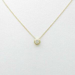 【新品】K18YGソリティアダイヤモンドネックレス【新品】