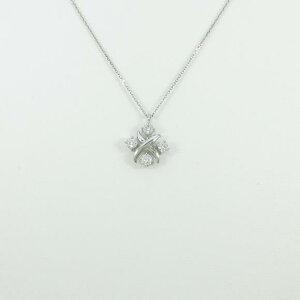 プラチナダイヤモンドネックレス0.505ct・F・SI2・VERYGOOD−GOOD【新品】