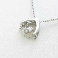 プラチナダイヤモンドネックレス 0.521ct・H・SI1・GOOD