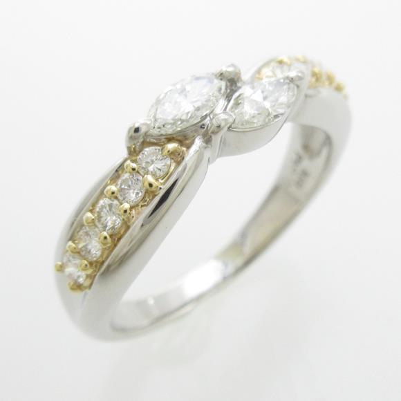 PT/K18YG ダイヤモンドリング【中古】:KOMEHYO ONLINESTORE