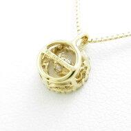 【新品】K18YG ダイヤモンドネックレス 0.218ct・G・SI2・GOOD