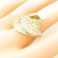 K18YG】K18PG ダイヤモンドリング