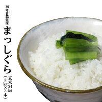 30年産青森県産まっしぐら玄米24kg(8kg×3)