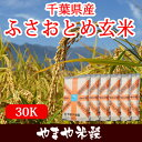 千葉県産 ふさおとめ玄米 30Kお米【選べる搗き方 白米・ハ...