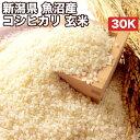 新潟県魚沼産コシヒカリ玄米30Kお米【選べる搗き方白米・ハイガ米・玄米・8分つきなど】完全真空包装米(真空包装代 無料)長期保存・鮮度維持・カビ、害虫などの繁殖 防止に♪美味しいご飯。贈り物にも。