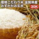 環境こだわり米滋賀県産みずかがみ玄米30Kお米【選べる搗き方白米・ハイガ米・玄米・8分つきなど】完全真空包装米(真空包装代 無料)長期保存・鮮度維持・カビ、害虫などの繁殖 防止に♪美味しいご飯。贈り物にも。
