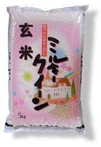 福島県産一等米100%【26年産】 ミルキークイーン玄米5kg[石抜き処理済]【あす楽対応】