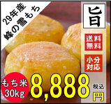 【もち米】29年千葉県産マンゲツモチ30kg【送料無料】【精米無料】白米精米のみの販売です。【小分け無料】精米約26.4kg【新米モチ米30kg】モチ米30kg美味しいモチ米