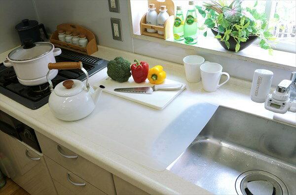 【ランキング1位受賞】キッチン用半透明保護マット 特大 配膳用品 キッチンファブリック キッチンマットキッチンカウンターを保護します♪ マット 半透明 キッチン用 特大 シリコーンゴム 保護マット