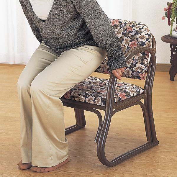 【ランキング受賞】 イス・チェア 座椅子 籐 思いやり座椅子 ミドルタイプ S212Bアーム付きで立ち上がりスムーズ!ラタンチェア座いす一人掛け1p籐座椅子シンプル天然素材籐家具籐製南国ラタン家具曲線フレーム