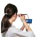 衛生日用品・衛生医療品 耳掃除用品 耳かき LEDカメラ付き耳かき ブラックFL-1337 LEDカメラ 耳かき ブラック カメラ付き 健康器具 健康 マイクロスコープ 耳掃除 ケア