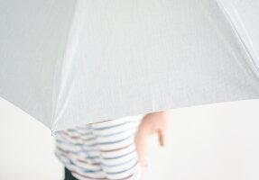 日傘メンズ女性用日傘ブランド小宮商店晴雨兼用傘「オーガニックシェード」おしゃれ長傘55cm8本骨一級遮光uvカット紫外線99.99%カット綿コットン黒コーティングストライプかわいい傘専門店小宮商店日本製修理