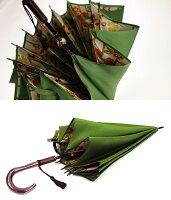 日本製雨傘甲州織ほぐし織「和花柄」長傘12本骨55cm|傘女性(レディース)雨ガサ/かさ/カサ/レデイース/ladies