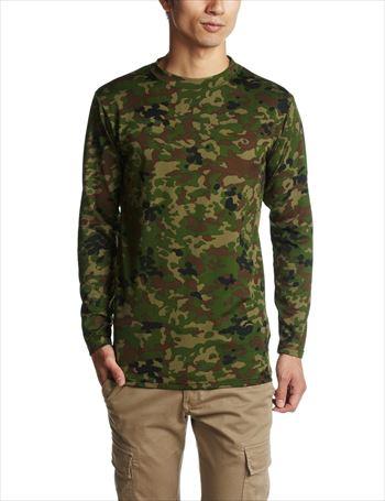 [J.S.D.F]クルーネック長袖Tシャツ[2704][新迷彩][XL][メンズ/ミリタリー/自衛隊 衣料/アンダーウェア][即納]