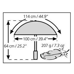 ユーロシルム[EuroSCHIRM]19570001★スイングライトフレックスアンブレラ【雨傘】【カサ】【トレッキング】【登山】【ハイキング】【旅行】【トラベル】【野外フェス】【持ち運び用ナイロンケース】【トレッキングアンブレラ】