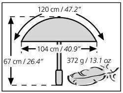 ユーロシルム[EuroSCHIRM]19570002★バーディーパルアウトドアアンブレラ【雨傘】【カサ】【トレッキング】【登山】【ハイキング】【旅行】【トラベル】【野外フェス】【台風並みの強風時にも安心して使用できます】