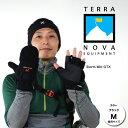 テラノバ 手袋 21WM(BKブラック)ウィンディコンバーチブルミット【ミトン】【指なし手袋】【メンズ/男性用】【レディース/女性用】【男女兼用】【※ゆうメールOK】【YU_ML】【スタッフ写真】【RCP】