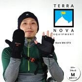 テラノバ 手袋 21WM(BKブラック)ウィンディコンバーチブルミット【ミトン】【指なし手袋】【メンズ/男性用】【レディース/女性用】【男女兼用】【※ゆうメールOK】【YU_ML】【スタッフ写真】