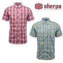 シェルパ シャツ メンズ/男性用 SM354 テライショートスリーブシャツ【TERAI S/S SHIRT】【半袖シャツ】【UVカット】【※ゆうメールOK】【RCP】