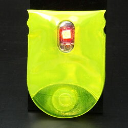 ユニコ反射板UNC5316B.freeリフレクター+LED【サイクリング】【ウォーキング】【夜間】【反射板】【通勤/通学】【RCP】