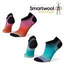 スマートウール ウィメンズ PhDランウルトラライトオンブルプリントマイクロ SW70555 レディース/女性用 靴下 ロストアロー