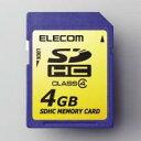 【エレコム】【ELECOM】[SDHC規格準拠][4G]SDHCメモリカード MF-FSDH04G