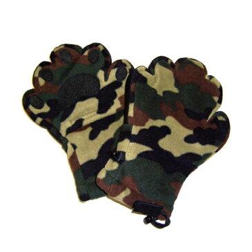 ベアハンズ フリースミトン 子供用 迷彩 手袋 グローブ 防寒 キッズサイズ 手ぶくろ ミトン プレゼント メテックス BEMTCM-YS
