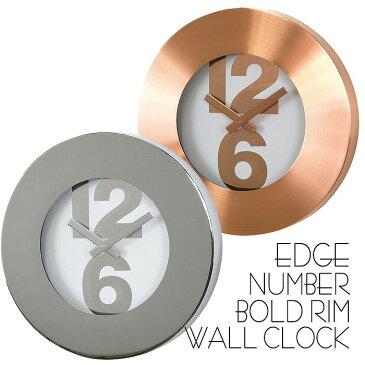 時計 壁掛け 掛け時計 壁掛け時計 EDGE NUMBER BOLD RIM WALL CLOCK 30cm ウォールクロック 掛時計 壁掛け 壁時計 クロック インテリア おしゃれ デザイン スパイス TELR1020