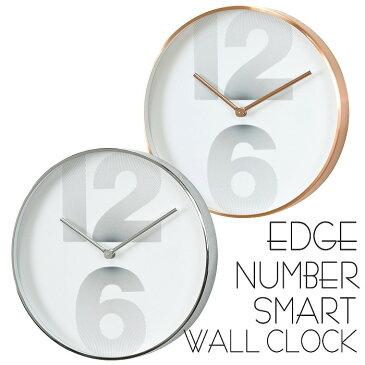 時計 壁掛け 掛け時計 壁掛け時計 EDGE NUMBER SMART WALL CLOCK 30cm ウォールクロック 掛時計 壁掛け 壁時計 クロック インテリア おしゃれ デザイン スパイス TELR1030