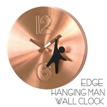 時計 壁掛け 掛け時計 壁掛け時計 EDGE HANGING MAN WALL CLOCK 30cm ウォールクロック 掛時計 壁掛け 壁時計 クロック インテリア おしゃれ デザイン スパイス TELR1040CP