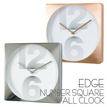 時計 壁掛け 掛け時計 壁掛け時計 EDGE NUMBER SQUARE WALL CLOCK 30cm 四角 スクエア ウォールクロック 掛時計 壁掛け 壁時計 クロック インテリア おしゃれ デザイン スパイス TELR1050