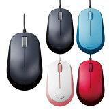 【代引不可】マウス 有線マウス 3ボタン BlueLED有線マウス ケーブル長1.5m 挿すだけ一発接続 3ボタンマウス エレコム M-Y8UB