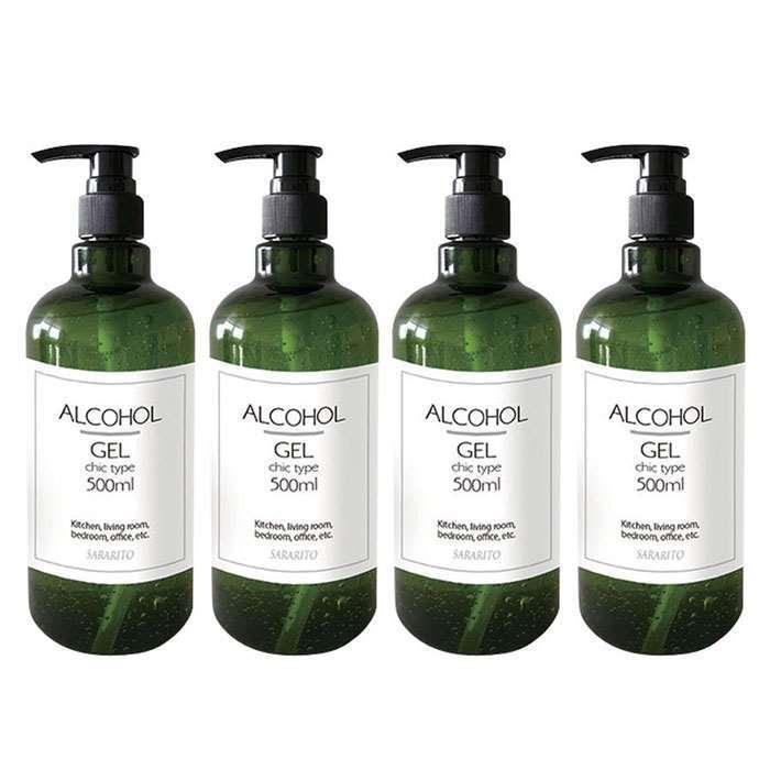 洗剤・柔軟剤・クリーナー, 除菌剤 SARARITO 500ml 4 ALCOHOL GEL RS-L1250x4