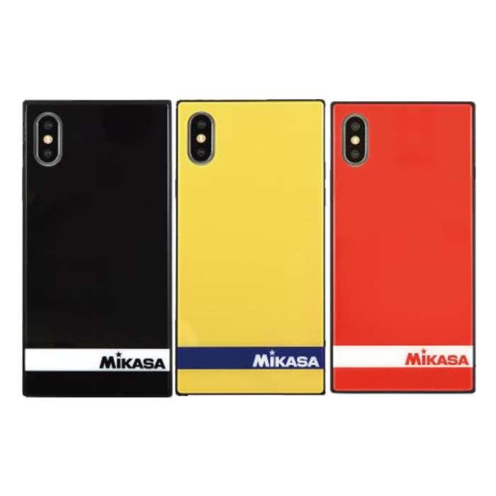 iPhoneXS iPhoneX 対応 iPhone XS X ケース カバー MIKASA スクエアガラスケース ハイブリッドケース ロゴデザイン グルマンディーズ MKS-01