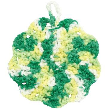 手作りアクリルたわし 黄×緑 白×緑 毛糸 かぎ針 セット タワシ 手作り オリジナル 編み物 手芸 アーテック 50923