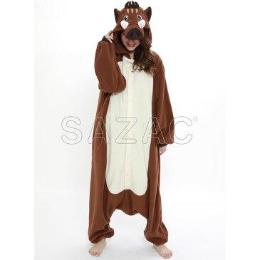 イノシシ フリース着ぐるみ いのしし 猪 パジャマ 部屋着 コスプレ コスチューム 衣装 仮装 変装 子供サイズ 130cm サザック 2891H