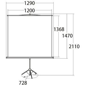 【代引不可】プロジェクタースクリーン三脚式60型相当三脚式のプロジェクタースクリーンコンパクトに収納でき持ち運びも簡単会議・プレゼン・授業・映画鑑賞・スポーツ観戦等サンワサプライPRS-S60