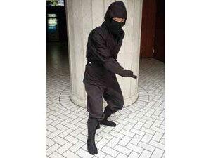 上着・下服・頭巾・覆面・手甲の忍者着5点セットです。忍者着 忍び装束 Sサイズ