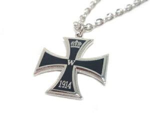 人気のデザイン「鉄十字」章がペンダントになりました【ミリタリーアクセサリー】WWI一級鉄十字...