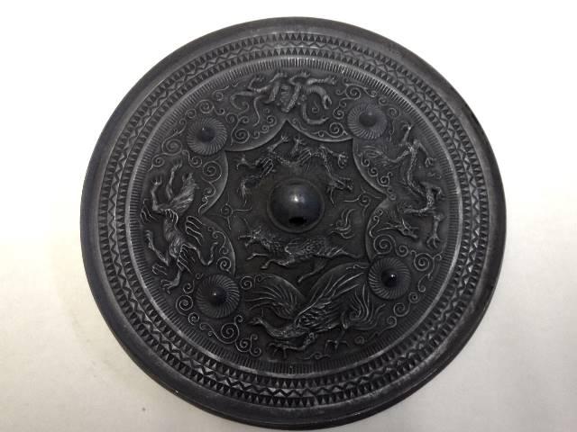產品詳細資料,日本Yahoo代標|日本代購|日本批發-ibuy99|八咫鏡(やたのかがみ)黒鉄風(くろがねふう)◆三種の神器 古代の鏡 古事記 日本書紀