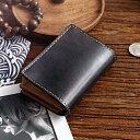 カード財布・二つ折り財布 本物の牛革財布ハンドメイド日本制作完全手縫い財布 ナチュラルレザー財布