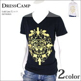 DRESS CAMP ドレスキャンプ Vネック Tシャツ ブランド 半袖 メンズ 42-D2702021 【PUP】