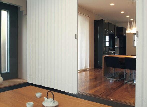 TOSO アコーディオンドア(アコーディオンカーテン) クローザーライト セイエス 幅176〜200cm×丈201〜210cm:インテリアコンポ2