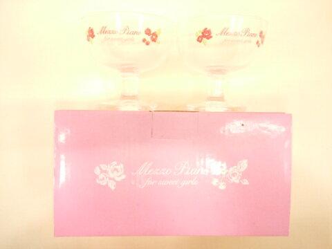 【単品での購入は不可となります】《非売品》新作ブランド関係なく5万円以上お買い上げでプレゼント〜メゾピアノ限定エレガントフラワー柄デザートグラスセット